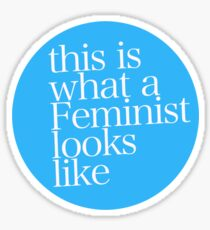 This is what a Feminist looks like BLUE Sticker