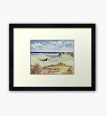 Sketching the Dunes Framed Print