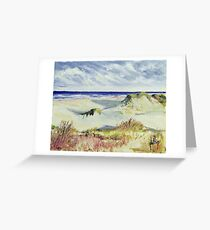 Sketching the Dunes Greeting Card
