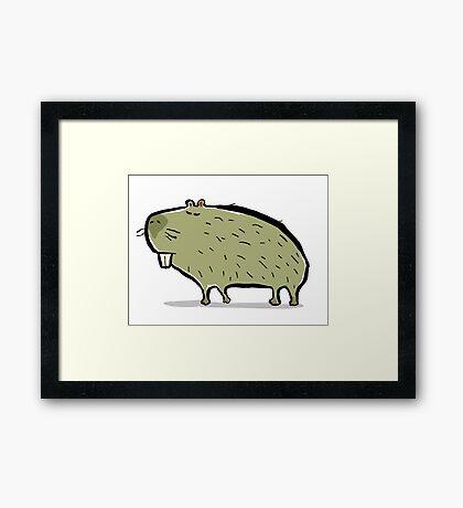 capybara Framed Print
