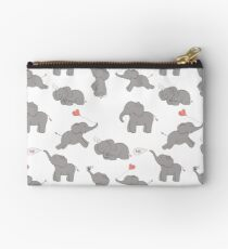 Cute and funny elephants Studio Pouch