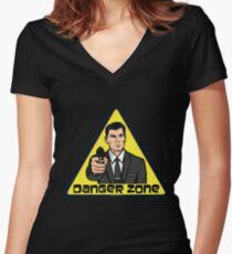 Danger Zone - Archer Women's Fitted V-Neck T-Shirt