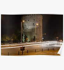 White Tower at night Poster