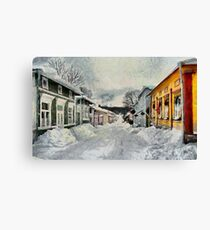 Naantali Old Town in Winter Canvas Print