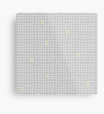 Carreaux - Grey/Green - Bis Metal Print