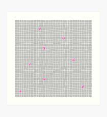 Carreaux - Grey/Pink - Bis Art Print