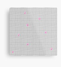 Carreaux - Grey/Pink - Bis Metal Print