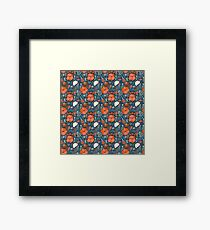 Summer field colorful pattern Framed Print
