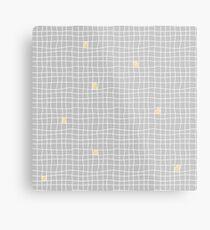 Carreaux - Grey/Yellow - Bis Metal Print
