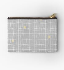 Carreaux - Grey/Yellow - Bis Zipper Pouch
