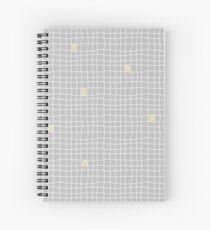Carreaux - Grey/Yellow - Bis Spiral Notebook