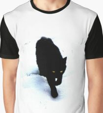 Cat in Snow Graphic T-Shirt