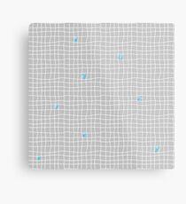 Carreaux - Grey/Blue - Bis Metal Print