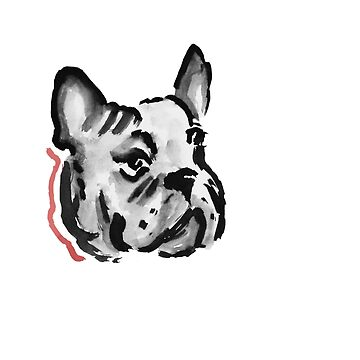 French Bulldog Watercolor by zieturner