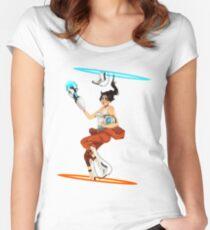 Portal 2 fanart  Women's Fitted Scoop T-Shirt