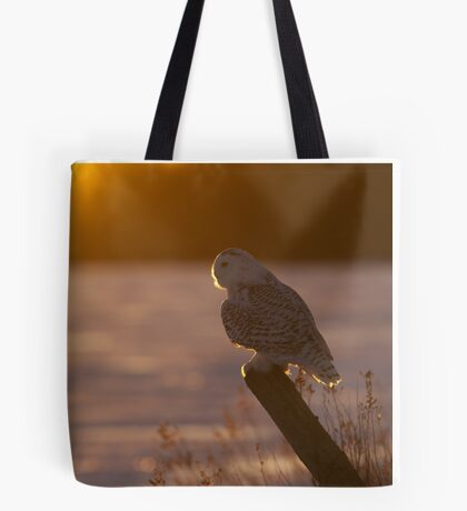 Sunset Hunter - Snowy Owl Tote Bag