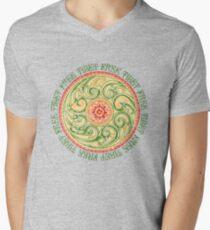 Camiseta de cuello en V Tibet Libre