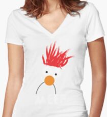 Beaker MEEP Women's Fitted V-Neck T-Shirt