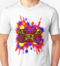 Graphic Boombox Artwork by Bill Tracy T-Shirt