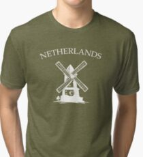 Netherlands Windmills Tri-blend T-Shirt