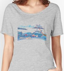Newport Beach Scene Women's Relaxed Fit T-Shirt