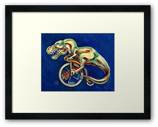 Tyrannosaurus on a Bicycle by Ellen Marcus