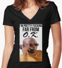 Far From O.K. Women's Fitted V-Neck T-Shirt