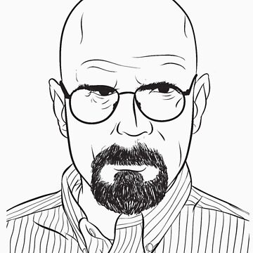 walter white line art breaking bad by rbslave1