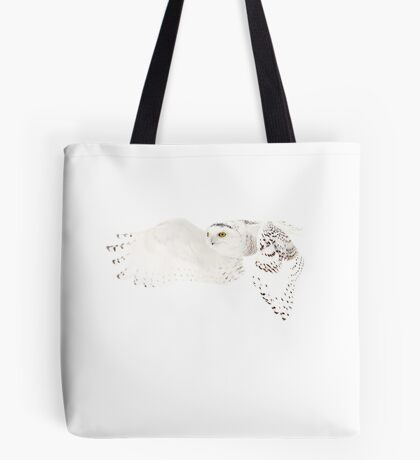 He went that away - Snowy Owl Tote Bag