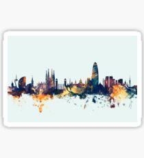 Barcelona Spain Skyline Sticker