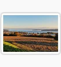 Autumn over Lake Constance at Aufkirch, Germany Sticker