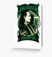 Asgardian Absinthe Greeting Card