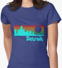 80's Retro Detroit (Distressed Design) Women's Fitted T-Shirt