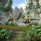 "Deinonychus ""terrible claw"" by Walter Colvin"