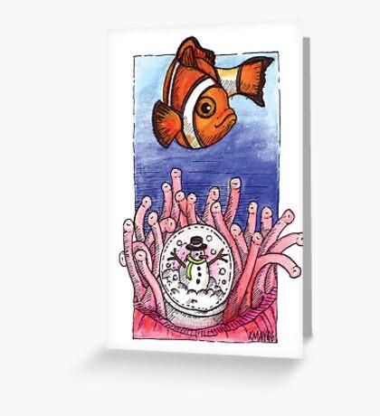 kmay xmas clown fish Greeting Card