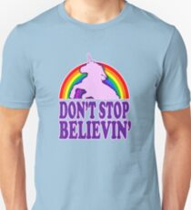 Don't Stop Believin' in Unicorns (Vintage Distressed) Unisex T-Shirt
