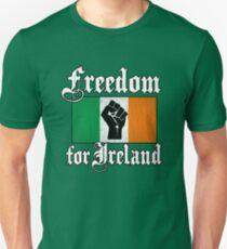 Camiseta ajustada Libertad para Irlanda (Vintage apenado)