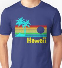 Vintage 80s Hawaii (Distressed Design) Unisex T-Shirt