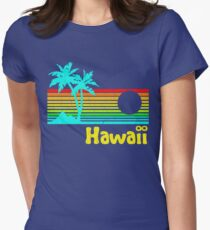 Vintage 80s Hawaii (Distressed Design) Women's Fitted T-Shirt