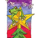 kmay xmas frog star by Katherine May