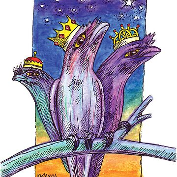 kmay xmas frogmouth kings by amayzing