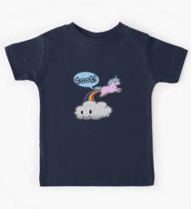 Toot! Cute Unicorn Fart (Vintage Distressed Design) Kids Tee