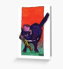 kmay xmas tassie devil cracker Greeting Card