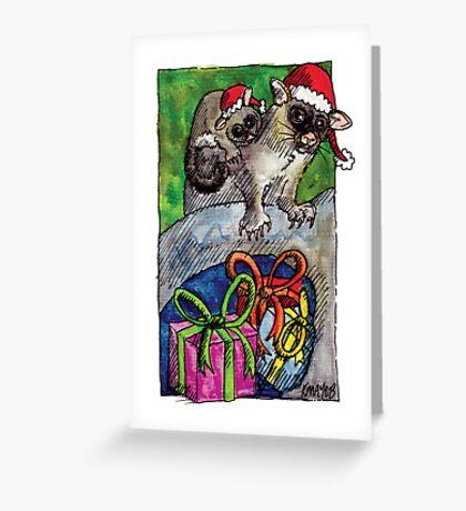 kmay xmas brushtailed possum Greeting Card