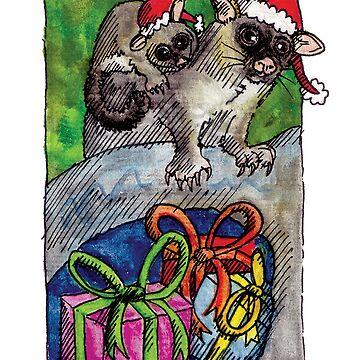 kmay xmas brushtailed possum by amayzing