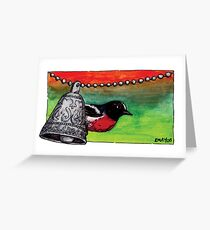 kmay xmas red robin Greeting Card