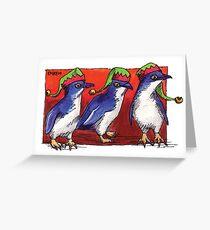 kmay xmas fairy penguin elves Greeting Card