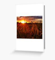 Dreamed Sunset Greeting Card