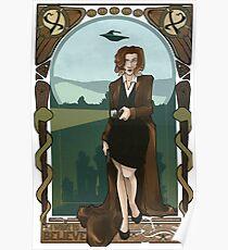 Dana Scully Art Nerdveau Poster