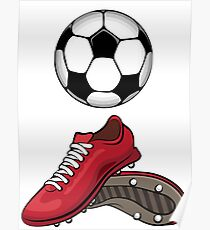 Boots and ball Poster